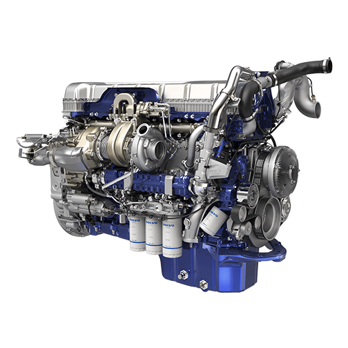 D13 turbo compounding offers increased power and fuel efficency for long-haul trucking applications.
